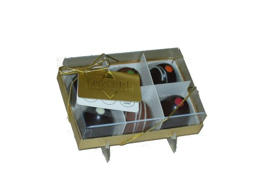 Large Chocolate Truffles Gift Box, 6 Large Truffles Clear