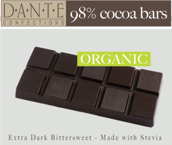 Organic Chocolate Bar with Stevia
